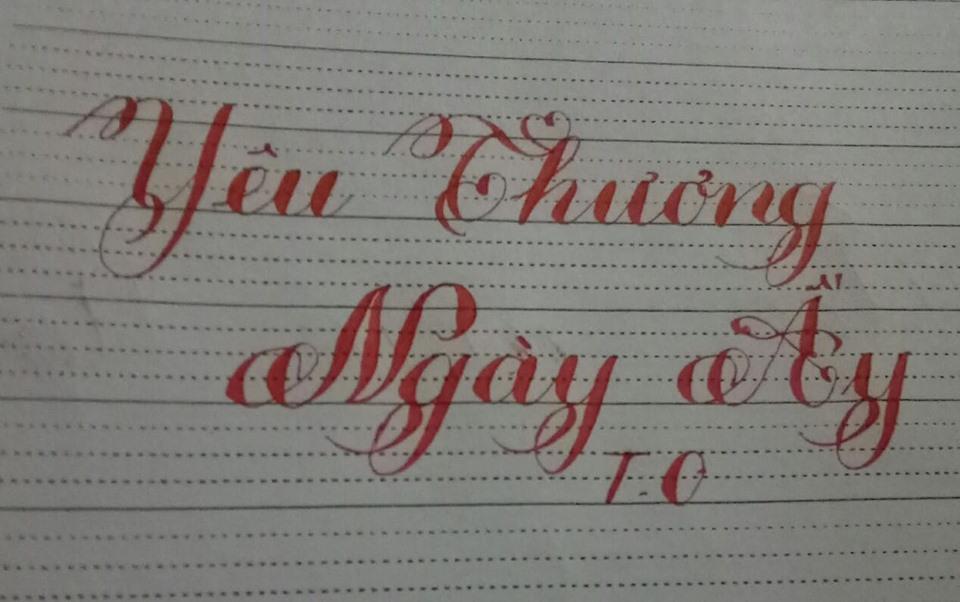 chữ viết chuẩn